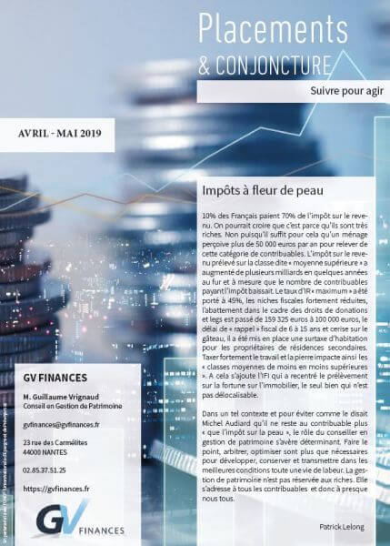 placement et conjoncture avril-mai 2019 GV-finances